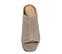 Ref. 3839 Sandalia ante ceniza tipo zueco. Puntera cuadrada y descubierto por los dedos. Tacón ancho de 7 cm y sin plataforma delantera. - Ítem2