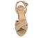 Ref: 3840 Sandalia ante beige con pala cruzada. Pulsera al tobillo con hebilla al tono. Tacón de 10.5 cm y plataforma delantera de 3.5 cm. - Ítem2