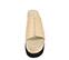 Ref. 3845 Sandalia piel beige con pala. Plataforma combinada en piel beige y goma negra. Suela dentada. Altura tacón 7 cm y plataforma delantera de 7 cm. - Ítem2