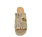 Ref. 3847 Sandalia piel platino con detalle de dos arandelas doradas en la pala y flecos. Tacón de 6 cm y sin plataforma delantera. - Ítem2