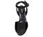 Ref: 3848 Sandalia ante negro con pala lisa y pulsera al tobillo con hebilla forrada al tono. Altura tacón 10.5 cm y plataforma delantera de 3.5 cm - Ítem2
