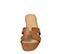 Ref: 3854 Sandalia plana piel cuero con pala en forma de H. Puntera cuadrada. - Ítem2