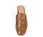 Ref. 3858 Zueco piel cuero descubierto por detrás. Detalle metálico dorado en el empeine. Puntera cuadrada. Altura tacón 6 cm y sin plataforma delantera. - Ítem2