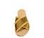 Ref. 3868 Sandalia raso mostaza con laterales desilachados y pala cruzada. - Ítem2