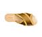 Ref. 3868 Sandalia raso mostaza con laterales desilachados y pala cruzada. - Ítem3