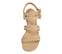 Ref. 3850 Sandalia ante arena con dos tiras en la pala. Detalle de dos tiras en el tobillo con hebilla cuadrada forrada al tono. Altura tacón 6 cm y sin plataforma delantera. - Ítem2