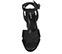 Ref: 3877 Sandalia ante negro con pala cruzada. Pulsera al tobillo con hebilla al tono. Tacón de 10.5 cm y plataforma delantera de 3.5 cm. - Ítem2