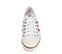 Ref. 3880 Adidas Nizza en tela blanca con detalles en burdeos. Cordones al tono. - Ítem3