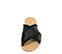 Ref. 3889 Sandalia raso negro con laterales desilachados y pala cruzada. - Ítem2