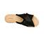 Ref. 3889 Sandalia raso negro con laterales desilachados y pala cruzada. - Ítem3