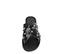 Ref. 3893 Sandalia piel negra con pala cruzada y detalle tachas plateadas y brillantes. - Ítem2