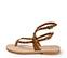 Ref. 3896 Sandalia piel cuero con tiras y detalle brillantes de colores y tachas doradas. Dos hebillas al tobillo doradas. - Ítem3