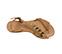Ref. 3897 Sandalia piel negra con tira cruzada y detalles dorados. Hebilla al tobillo dorada. - Ítem3