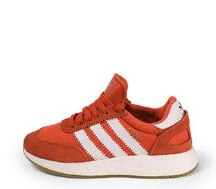 Ref. 3902 Adidas I-5923 combinado serraje y tela roja con detalles en blanco. Suela blanca. Cordones al tono con punta metálica. - Ítem1