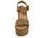 Ref. 3907 Sandalia serraje visón con pala y pulsera al tobillo con hebilla forrada al tono. Altura plataforma 10.5 cm y plataforma delantera 6.5 cm. - Ítem2