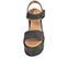 Ref. 3908 Sandalia serraje gris con pala y pulsera al tobillo con hebilla forrada al tono. Altura plataforma 10.5 cm y plataforma delantera 6.5 cm. - Ítem2