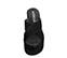 Ref. 3909 Sandalia serraje negro con pala cruzada. Altura plataforma 10.5 cm y plataforma delantera de 6.5 cm. - Ítem2