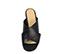 Ref. 3917 Sandalia piel negra con pala cruzada. Altura tacón 8.5 cm y sin plataforma delantera. - Ítem2