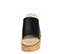 Ref. 3919 Sandalia piel negra con pala. Altura plataforma trasera 7 cm y plataforma delantera 6 cm. Plataforma de corcho. - Ítem2