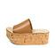 Ref. 3920 Sandalia piel cuero con pala. Altura plataforma trasera 7 cm y plataforma delantera 6 cm. Plataforma de corcho. - Ítem3