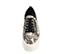 Ref. 3921 Sneaker piel grabado serpiente beige con cordones negros y cremallera lateral plateada. Plataforma blanca de 5.5 cm. Detalle trasero piel negra. - Ítem2