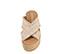 Ref. 3923 Sandalia tela natural con pala cruzada y detalle desflecado. Plataforma trasera 6.5 cm y plataforma delantera 5 cm. Plantilla de piel. - Ítem2