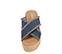 Ref. 3925 Sandalia tela azul con pala cruzada y detalle desflecado. Plataforma trasera 6.5 cm y plataforma delantera 5 cm. Plantilla de piel. - Ítem2