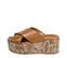 Ref. 3928 Sandalia piel cuero con pala cruzada. Plataforma forrada con grabado de serpiente. Altura plataforma trasera 6.5 cm y plataforma delantera 4 cm. - Ítem3