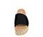 Ref. 3931 Sandalia serraje negro con pala. Plataforma de esparto con detalles trenzados al tono de 4.5 cm. Plantilla acolchada de piel. - Ítem2