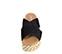 Ref. 3932 Sandalia serraje negro con pala cruzada. Plataforma de esparto con detalles trenzados al tono de 4.5 cm. Plantilla acolchada de piel. - Ítem2