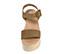 Ref. 3935 Sandalia serraje visón con pala y pulsera al tobillo con hebilla forrada al tono. Altura tacón 8.5 cm y plataforma delantera de 5 cm. Plataforma acolchada de piel. - Ítem2