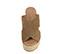 Ref. 3949 Sandalia serraje visón con pala cruzada. Plataforma de esparto. Altura plataforma trasera 11 cm y plataforma delantera 4.5 cm. Plantilla acolchada de piel. - Ítem2