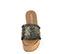 Ref. 3956 Sandalia piel azul grisacea desflecada y trenzado en dorado. Plataforma de esparto. Plantilla acolchada de piel. Altura plataforma trasera 7.5 cm y plataforma delantera 5.5 cm. - Ítem2