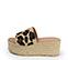 Ref. 3969 Sandalia potro con estampado leopardo y pala. Altura plataforma trasera 6.5 cm y plataforma delantera 5 cm. Plataforma de esparto. Plantilla de piel acolchada. - Ítem3