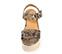 Ref. 3975 Sandalia grabado serpiente beige y marrón. Plantilla de piel. Pulsera al tobillo con hebilla forrada al tono. Altura tacón 8.5 cm y plataforma delantera 5 cm. - Ítem2