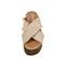 Ref. 3977 Sandalia tela beige con pala cruzada y detalle desflecado. Plataforma trasera 6.5 cm y plataforma delantera 5 cm. Plantilla de piel. Plataforma serraje topo. - Ítem2