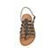 Ref. 3980 Sandalia piel gris estilo romana con tira al tobillo y hebilla plateada. Plantilla de piel. - Ítem2