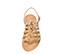 Ref. 3985 Sandalia piel marrón con grabado serpiente beige. Tipo romana. Con tira al tobillo y hebilla plateada. Plantilla de piel. - Ítem2