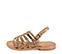 Ref. 3985 Sandalia piel marrón con grabado serpiente beige. Tipo romana. Con tira al tobillo y hebilla plateada. Plantilla de piel. - Ítem3