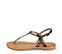 Ref. 3987 Sandalia piel plomo con tira en el empeine y hebilla lateral dorada. Plantilla de piel. - Ítem3