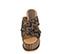 Ref. 3995 Sandalia tela y lentejuelas en tonos marrón y negro. Pala cruzada. Altura tacón 9.5 cm y plataforma delantera de 7.5 cm. Detalle tachas en el contorno de la suela delantera. - Ítem2