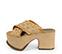 Ref. 3997 Sandalia combinada de piel y rafia en tonos beige. Pala cruzada. Altura tacón 9.5 cm y plataforma delantera de 7.5 cm. Detalle tachas en el contorno de la suela delantera. Plataforma de saco - Ítem3