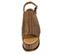Ref. 4002 Sandalia marrón trenzada con pala y tira al tobillo. Hebilla dorada. Altura tacón 9.5 cm y plataforma delantera 7.5 cm. Plantilla de piel. Detalle tachas en el contorno de la suela delantera - Ítem2