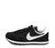 Ref. 4023 Nike serraje negro combinada con tela negra y simbolo en gris. Cordones negros. Suela negra y blanca. - Ítem3