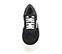 Ref. 4024 Sneaker serraje negro con detalle en piel blanca. Plataforma blanca de 5 cm. - Ítem2