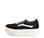 Ref. 4024 Sneaker serraje negro con detalle en piel blanca. Plataforma blanca de 5 cm. - Ítem3