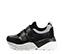 Ref. 4028 Sneaker piel negro combinada con serraje negro. Dos velcros. Suela combinada en negro y blanco con altura trasera de 6 cm. - Ítem3