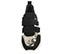 Ref. 4029 Sneaker piel grabado serpiente combinada con serraje negro. Dos velcros. Suela combinada en negro y blanco con altura trasera de 6 cm. - Ítem2