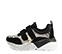 Ref. 4029 Sneaker piel grabado serpiente combinada con serraje negro. Dos velcros. Suela combinada en negro y blanco con altura trasera de 6 cm. - Ítem3
