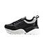 Ref. 4030 Sneaker piel negra combinada con serraje negro. Cordones negros. Suela combinada en negro y blanco con altura trasera de 6 cm. - Ítem3